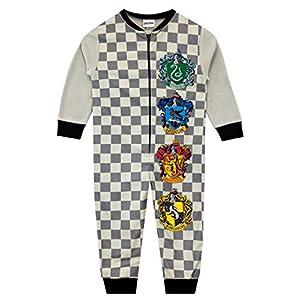 HARRY POTTER Pijama Entera para niños Hogwarts Gris 9-10 Años 23