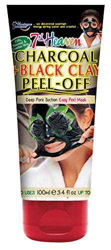 7th Heaven Charcoal and Black Clay Peel Off Mask 100ml Tube with Witch Hazel, 0.12 Kg