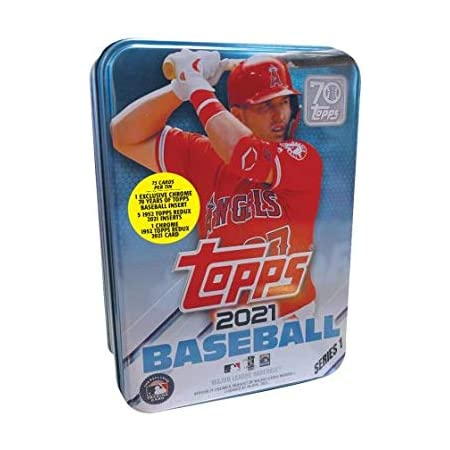 2021 Topps Series 1 MLB Baseball Tin (75 cards/bx, Trout)