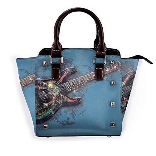 Zhong Shan Bolso de hombro con remaches Individualidad Guitarra eléctrica Bolso de...