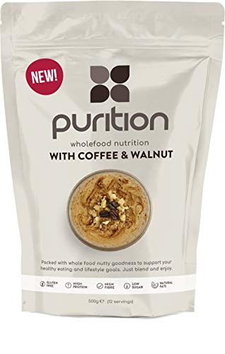 Purition Coffee & Walnut Natural Protein Powder for Keto Diet Shakes and Meal Replacements Shakes, 1 Bag (12 Serving)…