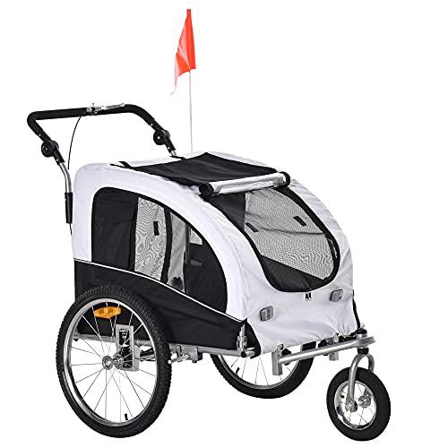Aosom Elite II 2-in-1 Pet Dog Bike Trailer and Stroller