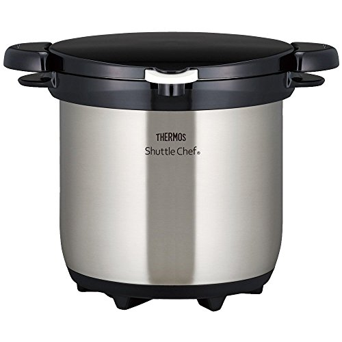 THERMOS Vacuum Insulation Cooker Shuttle Chef 4.5L Clear stainless KBG-4500 CS (Japan import)