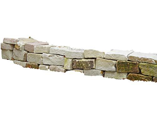 NATURSTEIN NRW Knacker Mauersteine Naturstein Sandstein | maschinengespalten | robust und langlebig | für Garten Gartenmauer Mauer Hochbeet Wand | 10-20cm, 15-20cm, 25-50 cm | 250 Kg im Big Bag