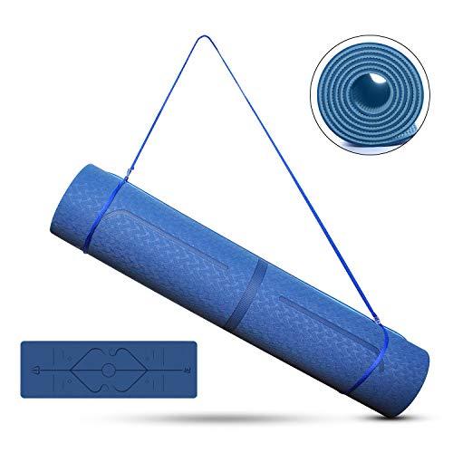 Tappetino Yoga Antiscivolo, TPE Tappeto Fitness per Uomini e Donne in Palestra & Pavimento,Yoga Mat per Pilates/Allenamento …