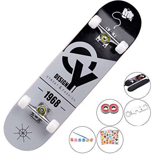 7 Layer Maple Wood Concave Skateboard voor het perfectioneren van je Ollie en Kickflip - Leren, Praktijken En Land Tricks in No Time!