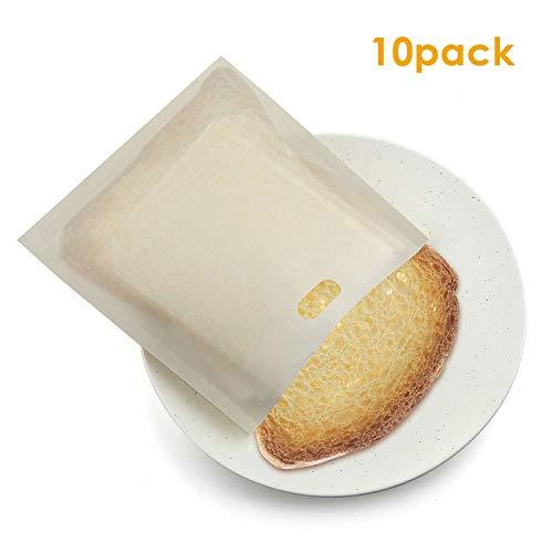 Weehey Bolsa de tostadora Bolsa de tostadora de tefl/ón Resistente al Calor Reutilizable Antiadherente para Pan s/ándwich de Queso a la Parrilla