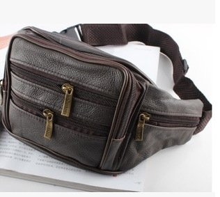 ZYT Premières couche cuir bandoulière en cuir sacs à main en bandoulière un poches multifonctions pour les hommes brown