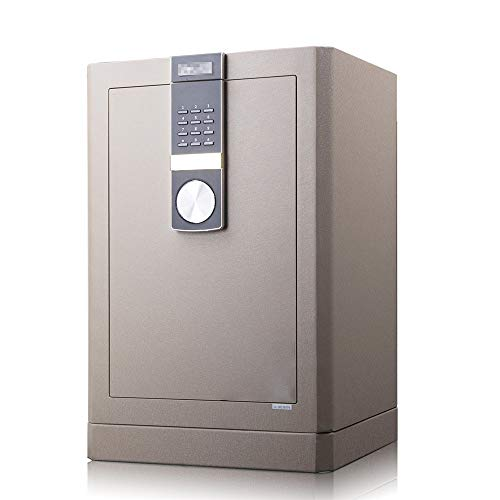 TYJKL Caja Fuerte Caja de Seguridad de Seguridad Digital, Bloqueo de Llave de Seguridad Doble y contraseña, Caja de Bloqueo Interior Segura para la Oficina en casa almacenar Documentos Importantes