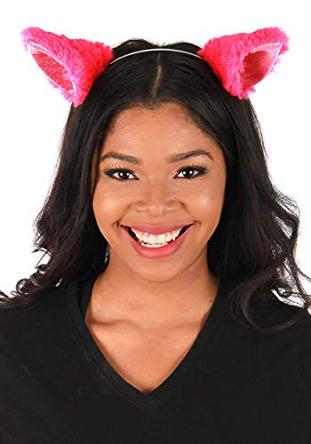 Pink Cat Ears Costume Headband for Adults and Kids