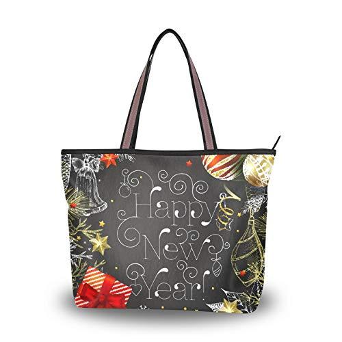Correa de peso ligero para mujeres, niñas, señoras, estudiante, bolso de mano, monedero, bolsos de compras, bolsos de hombro, regalo de Navidad, árbol de copo de nieve