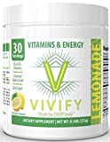 Vivify All-Day Energy Vitamin and Amino Powder, Top-Rated Preworkout Energizer for Women and Men, 5 g BCAA's, L-Glutamine. Natural Lemon Flavor. Zero Sugar. 30 Servings.