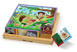Melissa & Doug Old Testament Bible Stories Wooden Cube Puzzle - 6 Puzzles in 1