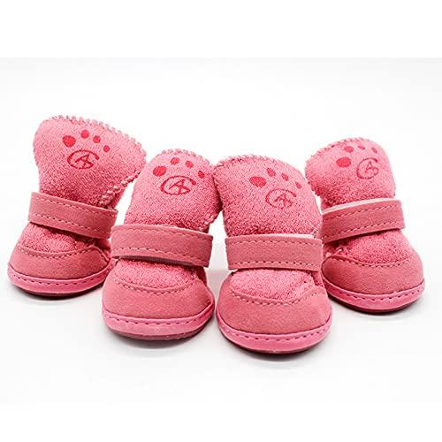 Comfortabele stijlvolle hond schoenen snowboots kind teddy katoen vlas kleine hond schoenen snowboots warm houden