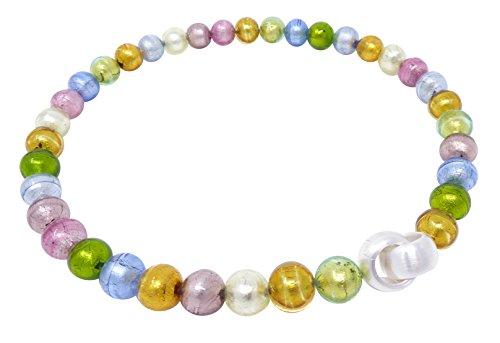 Murano-Kette Collier Perlen Handarbeit echtes Murano-Glas hochwertige Klapp-Schließe Sterling-Silber 925-er Goldschmiede-Arbeit kostbar stilvoll