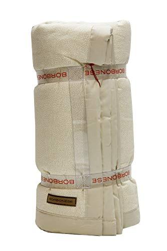 Borbonese Cotton Plaid Opla' Ecru