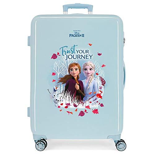 Disney Frozen Trust your journey Maleta mediana Azul 48x64x26 cms Rígida ABS Cierre combinación 61L 3,4Kgs 4 ruedas dobles