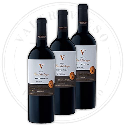 Pack Reserva Finca La Atalaya Reserva - Vino Tinto Ribera del Duero Denominación de Origen/Vino de Páramo| Tinto Fino (90%) y Cabernet Sauvignon (10%) | 3 Botella 750 ml/Ud