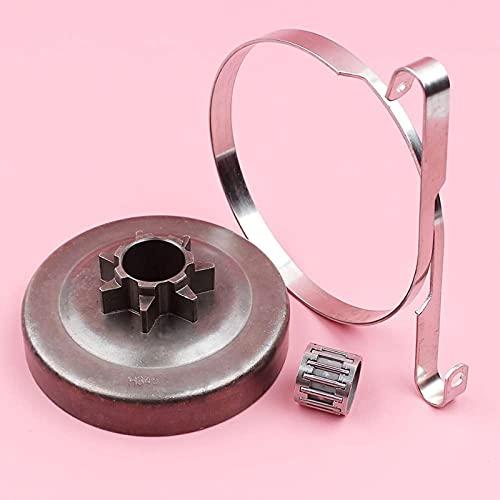 .325 7 dientes embrague tambor cadena freno banda rodamiento de agujas piezas de primera muesca para HUSQVARNA 340, 345, 350, 445, 450, repuesto para motosierra Eficiente