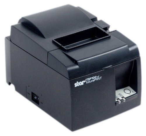 Star Micronics TSP143USB-Thermobelegdrucker, POS-Kassendrucker, 203 x 203dpi, grau, POS-Terminal, Druckmedien-Stärke: 65-85, Unterstützte Papierbreite: 58-80, verkabelt