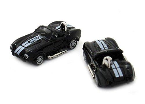 Unbekannt Cabrio Manschettenknöpfe Sportwagen sportliches Auto Fahrzeug schwarz weiss + Exklusivbox