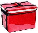 NOBRAND - Bolsa aislante térmico (44L/58L/69L, para uso en exteriores, resistente al agua, a prueba de aceite, con cremallera, color rojo, tamaño, Rojo, 44L