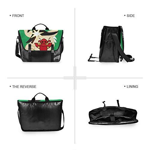 Magic Pig Schultertasche für Damen und Herren, aus Segeltuch, Retro-Stil, für iPad, Kindle, Samsung