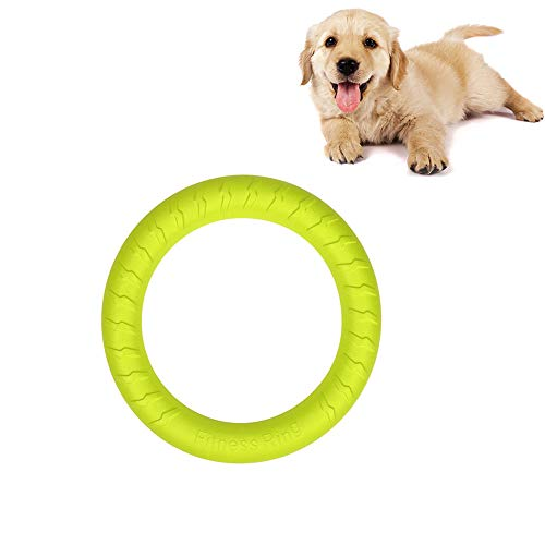 Small Dog Toys Ring Water Floating, Outdoor Fitness Flying Discs, Tug of War Interactive Training Ring for Puppy to Small Dogs, 8 inch