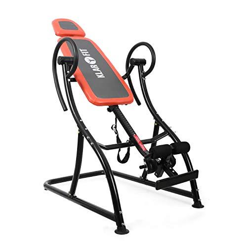 Klarfit Relax Zone Comfort Inversionsbank Hang-Up-Rückentrainer Rücken-Bank (zur Streckung der Wirbelsäule, bis 150kg, verstellbar, für alle Altersgruppen, leichte Montage)