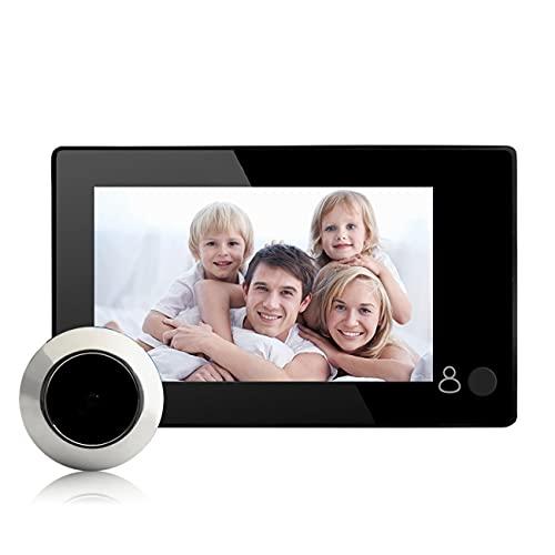 Pantalla de color USB de 4,3 pulgadas, cámara digital LCD con timbre de puerta de 145 grados, visor de puerta con mirilla electrónica