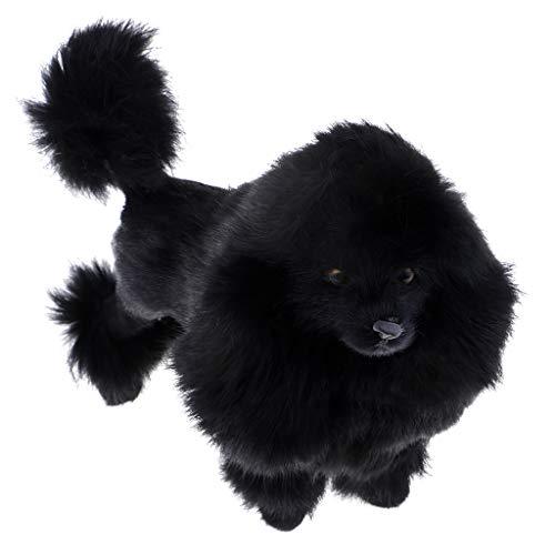 SM SunniMix 26x10x20cm Pudel Hund Plüschtier Kuscheltier Stofftier, schwarz