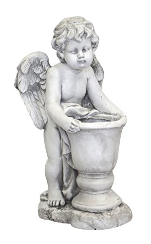 DARO DEKO Garten-Figur Engel mit Blumen-Topf