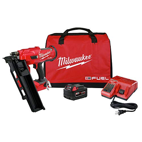 MILWAUKEE ELECTRIC TOOL 2744-21 M18 Fuel 21 Degree Framing Nailer Kit