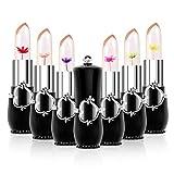 6 paquetes de bálsamo labial hidratante nutritivo, temperatura, cambio de color, lápiz labial mate, brillo de labios de larga duración (negro)