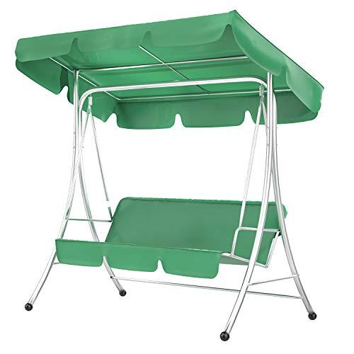 Yagosodee Protector Solar Impermeable Funda de Cojín para Columpio de Patio Funda Protectora para Muebles de Jardín Al Aire Libre (Verde)