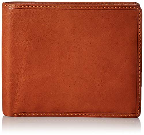 Mens Bifold Passcase ID Wallet Slim Front Pocket Multi Card Case Italian Leather