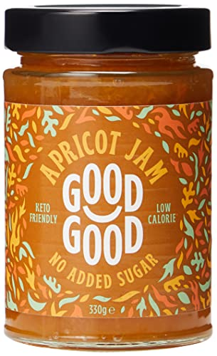 Sweet Jam with Stevia by Good Good - 12 oz / 330 g - No Added Sugar Apricot Jam - Vegan - Gluten Free - Diabetic (Apricot)