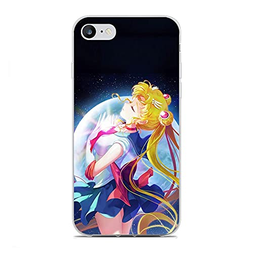 CHATERE Soft Silicone Clear TPU Matte Gedrukte Coque Gel Rubber Case voor Apple iPhone 6/6S Pretty Soldier-Sailor Moon 8