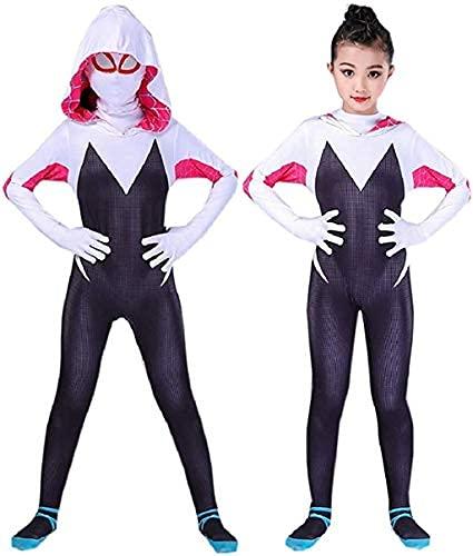 RELILOLI Girls Halloween Costume (4T) Black/White