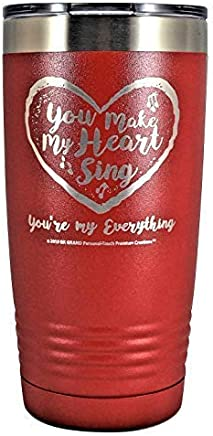 ceeff1abd3b You Make My Heart Sing You're my Everything - Stainless Steel Vacuum  Insulated Heart