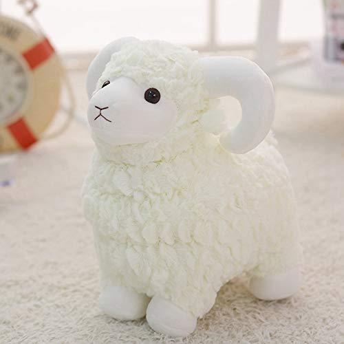 KXCAQ 25-55 cm Linda ovejita, Peluche, Oveja, Almohada, muñeco para Dormir Regalo de Juguete para niños, niñas, niños, Regalos de cumpleaños 55cm Blanco