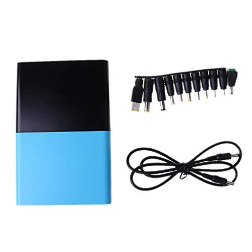 bobeini QC 3.0 USB DC 1-24V Salida 12x 18650 Baterías Banco de energía DIY para teléfono portátil Negro