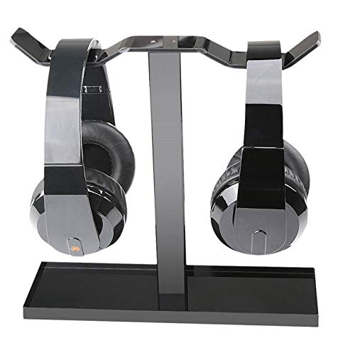 Kopfhörer Ständer, Eurobuy Universal Acryl-Dual-Balance-Headset-Ständer, Kopfhörer-Kopfhörerhalter für alle Gaming Headset Größen, Schwarz