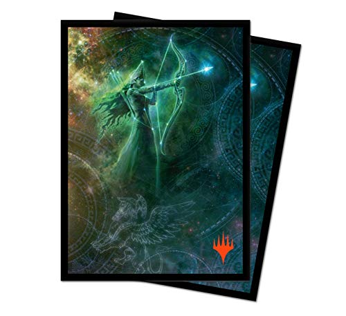 Theros: Beyond Death - Nylea, Keen-Eyed Limited Edition Galaxy Alt Art Deck Protector Sleeves for Magic: The Gathering (100 ct.)