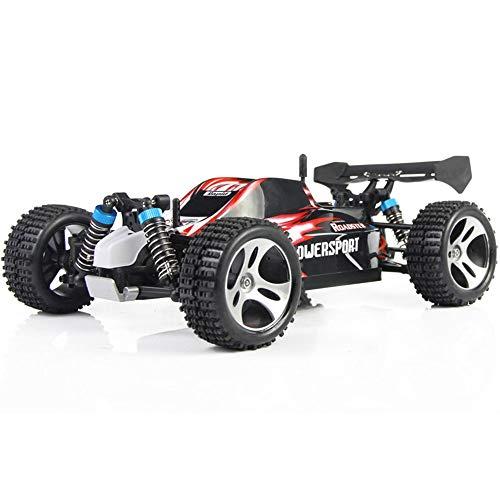 Hging RC Cars, Coche de Control Remoto de Alta Velocidad para Adultos niños niños, 1:18 Escala, 45+ km/h, 4WD All Terrain Off Road Monster Trucks, 2,4 GHz Rally Buggy Juguetes, Romper el Viento Stre