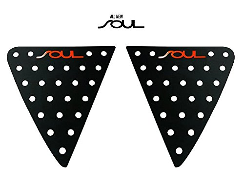Sell by Automotiveapple, Ver.2 Window Glass Lettering Sports Plate Panel C Pillar 2-pc Set for 2014-2018 Kia Soul (Red Logo)