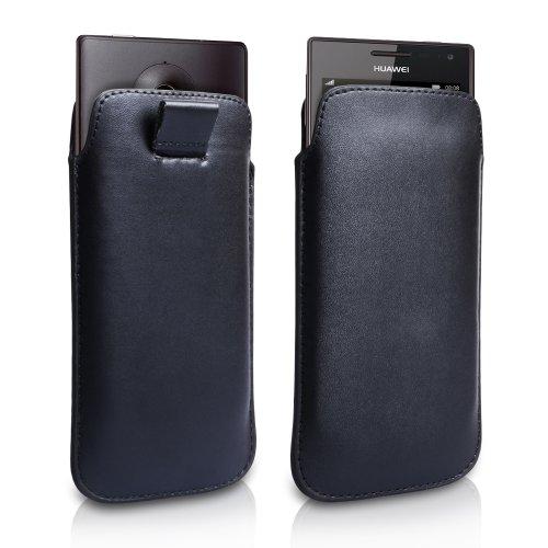 Huawei Ascend W1 Tasche Schwarz PU Leder Beutel Hülle