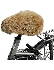 Hollert Lamsvel fietszadelhoes cappuccino bont zadelovertrek Merino schapenvacht