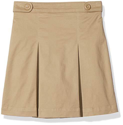 Amazon Essentials - Falda pantalón de uniforme para niña, Caqui, US L (EU 134-140 CM, S)