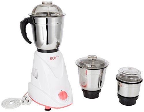 SignoraCare Eco Matic SCEM-2921 550-Watt Mixer Grinder with 3 Jars (Cream/Orange)